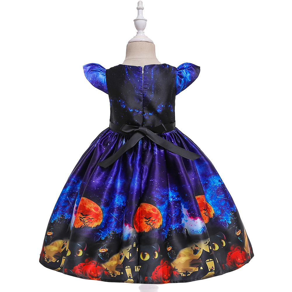 Girls Dresses For Kids 2019 Halloween Cosplay Party Dress Clothes Teens Princess Dress Hat Children Christmas Carnival Dresses (13)