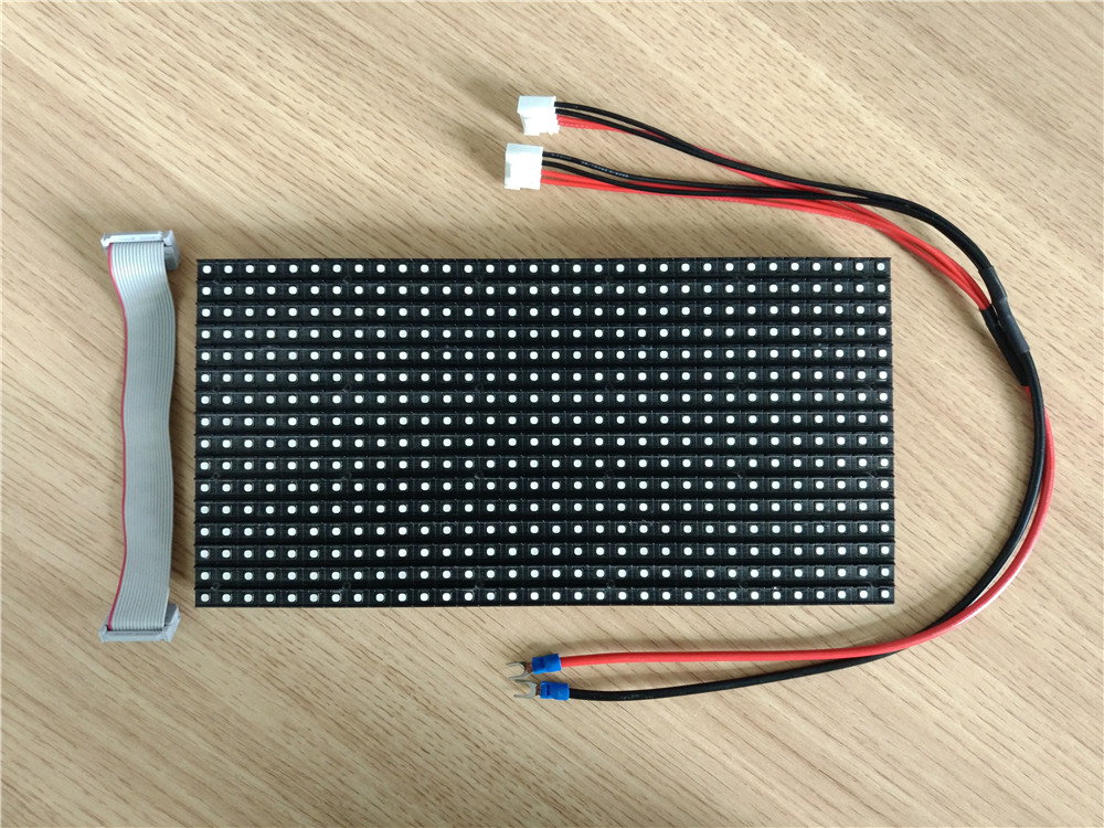 outdoor p8 full color smd3535 waterproof 256mm x 128mm brightness 6 500nits high resolution led module