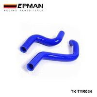 Silicone intercooler kit de mangueira do radiador para toyota starlet turbo ep91 glanza (2 peças) EP-TYR034