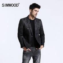 SIMWOOD 2020 Winter Neue Mix Wolle Blazer Männer Mode Druck Anzüge Männlichen Single Button Jacken Hohe Qualität Mäntel Kleidung XZ6109