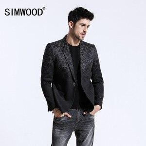 Image 1 - SIMWOOD di 2020 Inverno Nuovo Mix di Lana Giacche Uomini di Modo di Stampa Abiti Maschili Singolo Pulsante Giubbotti di Alta Qualità Cappotti Vestiti XZ6109