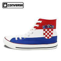 Custom Hand Painted Shoes Croatia Flag Converse All Star Men Women High Top Canvas Sneaker Birthday
