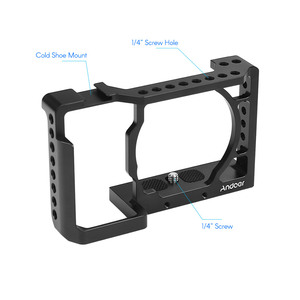 Image 2 - Andoer Camera Cage Video Film Movie Making Stabilizer Aluminum Alloy 1/4 Inch Screw with Cold Shoe Mount for Sony A6500 Camera