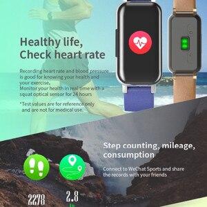 Image 5 - Pulseira smart t89, com fone de ouvido duplo, para esportes, fitness, bluetooth, monitor cardíaco, pressão sanguínea, a prova d água