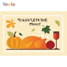 Yeele Thanksgiving Turkey Pumpkin Tomato Red Wine Photography Backdrops Personalized Photographic Backgrounds For Photo Studio