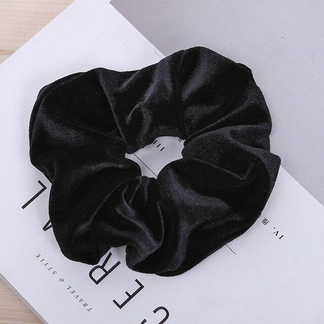 LOVINGSHA solide cheveux accessoires pour fille marque velours femmes cheveux cravate dame chouchous femelle queue de cheval élastique pour cheveux corde NFD046
