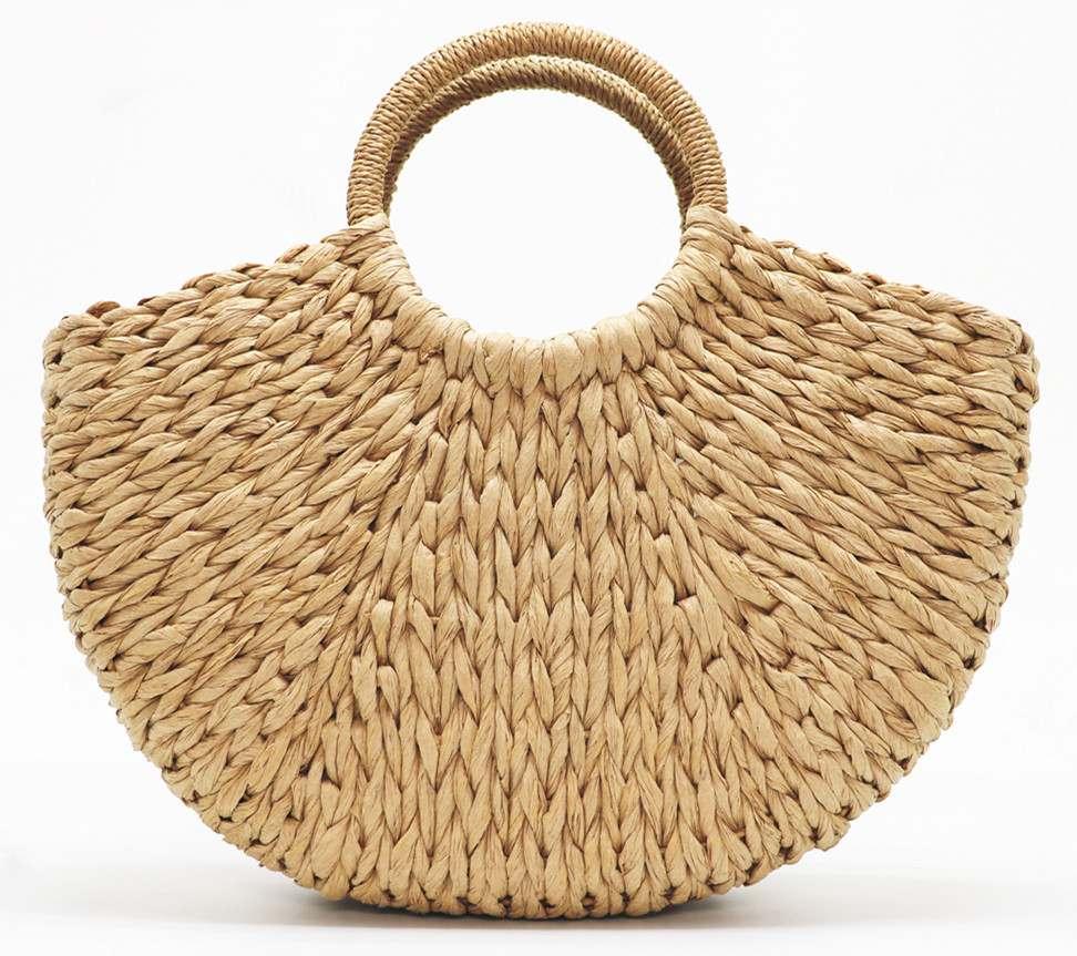 HTB1HEKfsHSYBuNjSspiq6xNzpXau - Beach Handmade Style Straw Handbag