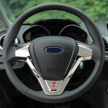 Цвет моей жизни ABS рулевого колеса автомобиля защитный блестящий чехол наклейки для Ford New Fiesta Ecosport 2009-2016 аксессуары