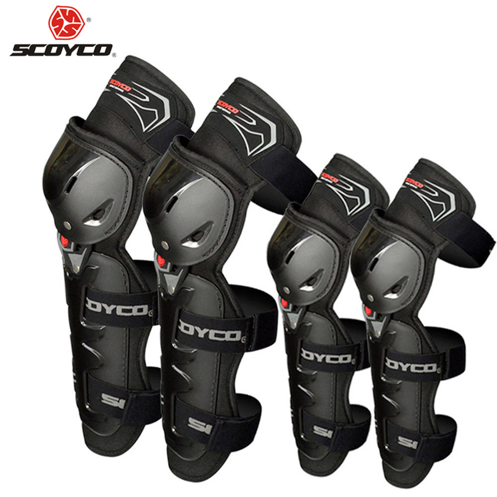 SCOYCO Motorcycle Protective Kneepads Moto Racing Knee Elbow Pads Guards Protector K1163 Motocross Sports Protective Gear цены онлайн