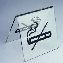 8x8x6.5cm -Acrylic sign no smoking sign-10pcs