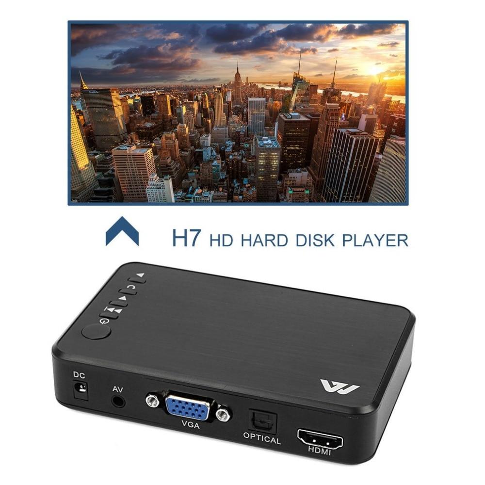 Full HD Media player Mini Autoplay Full HD 1920x1080 HDMI VGA AV USB Hard Disk U Disk SD ...