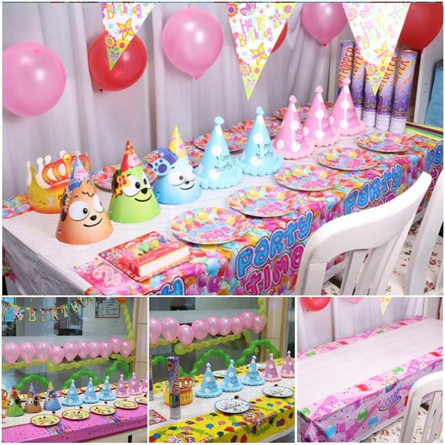 Cute Cartoon Pattern Child S Birthday Party Table Cloth Pvc