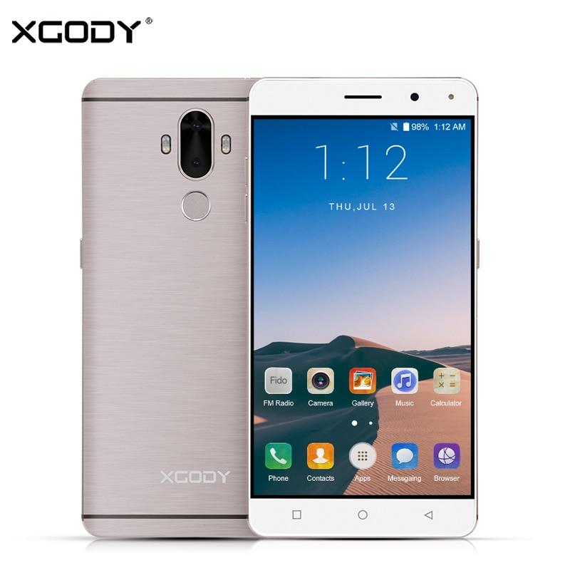 XGODY Y19 4G LTE Smartphone 6 Inch Android 7.0 MTK MT6737 Quad Core 2G RAM 16G ROM 13MP Mobile Phone 6 Inch Fingerprint Celular