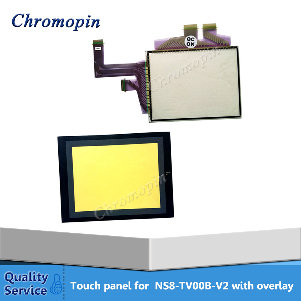 New Original Touch panel for Omron NS8-TV00-V1 NS8-TV01-V1 NS8 NS8-TV00-V2 NS8-TV00B-V2 with Front overlay cz v1 original and new