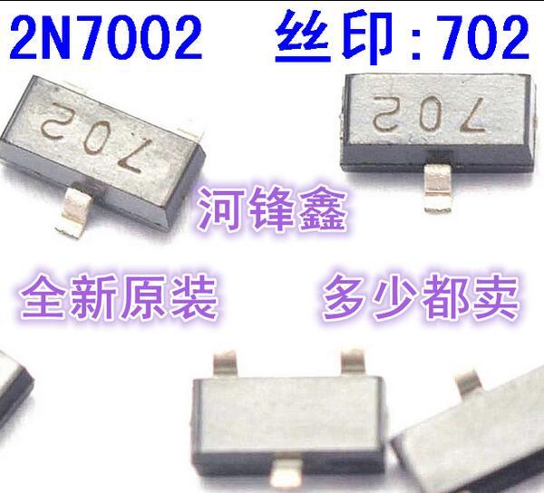100pcs/lot 2N7002LT 2N7002 702 SOT-23 In Stock