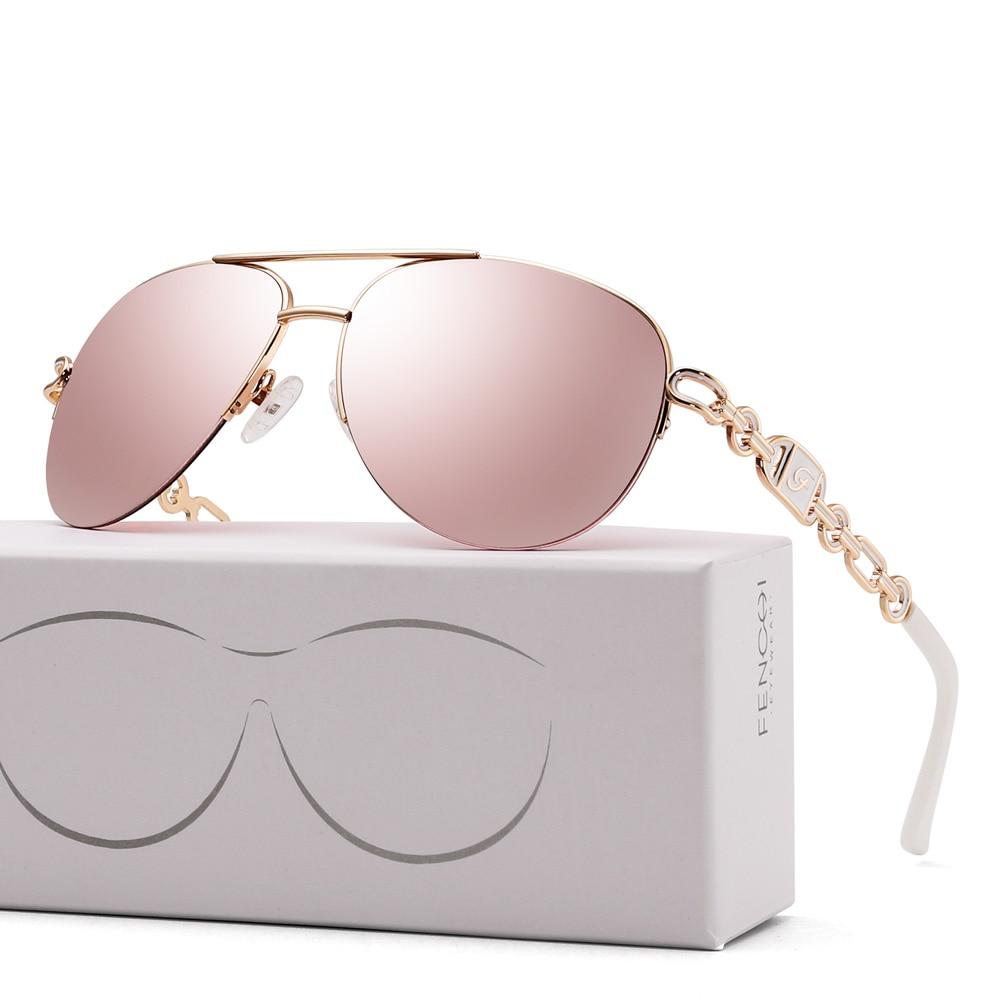 FENCHI sunglasses women uv 400 oculos female glasses sun glasses mirror Pilot Pink feminino zonnebril dames gafas de sol mujer 14