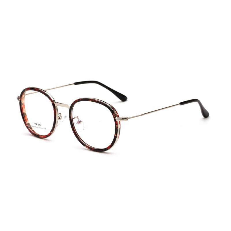 TR90 Metal Cute Glasses Frame Big Round Thin Rim Men Women Optical Eyeglasses Student Spectacles Prescription Myopia Eyewear