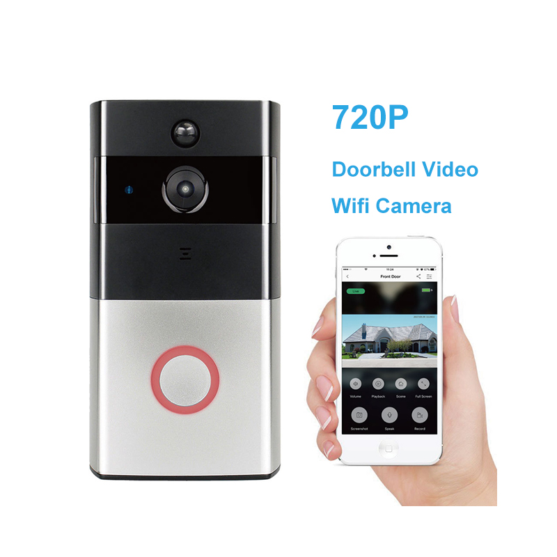 New PIR Motion detection 720P P2P Night vision Home Security Wireless Battery Powered Smart Video Doorbell wifi CCTV Camera kinco wifi remote control night vision video doorbell hd waterproof dtmf motion detection alarm smart home for smartphone