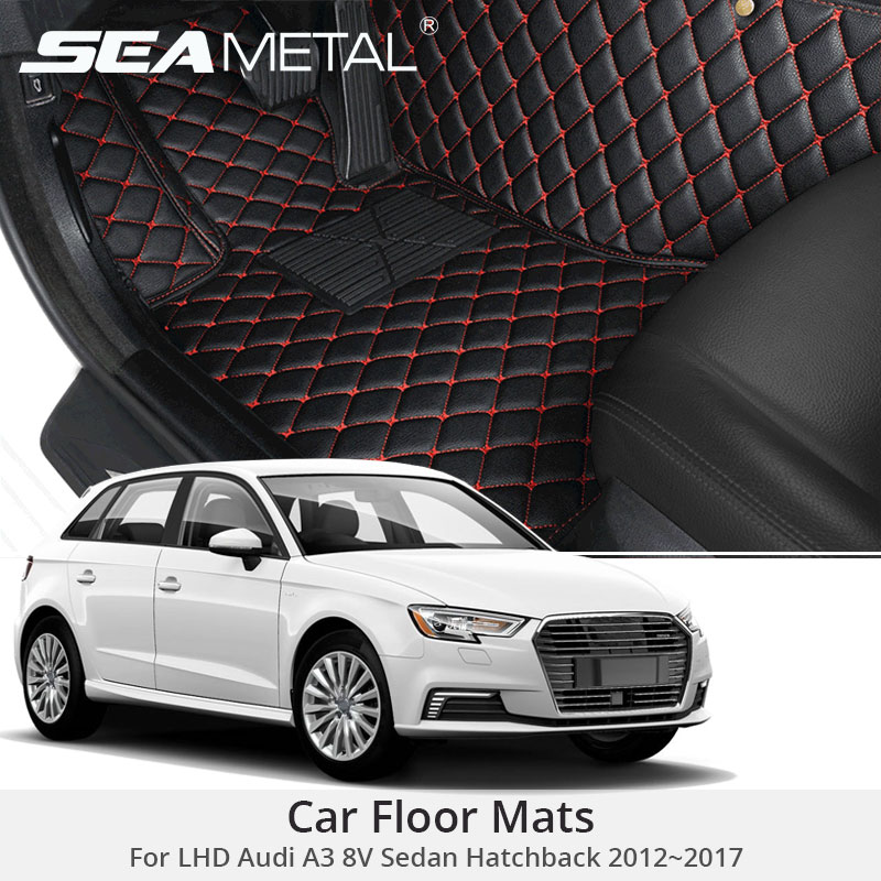 For LHD Audi A3 8V Sedan Hatchback 2017 2016 2015 2014 2013 2012 Car Floor Mats Rugs Auto Leather Cover Car-Styling AccessoriesFor LHD Audi A3 8V Sedan Hatchback 2017 2016 2015 2014 2013 2012 Car Floor Mats Rugs Auto Leather Cover Car-Styling Accessories