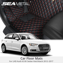 For LHD Audi A3 8V Sedan Hatchback 2017 2016 2015 2014 2013 2012 Car Floor Mats Rugs Auto Leather Cover Car-Styling Accessories