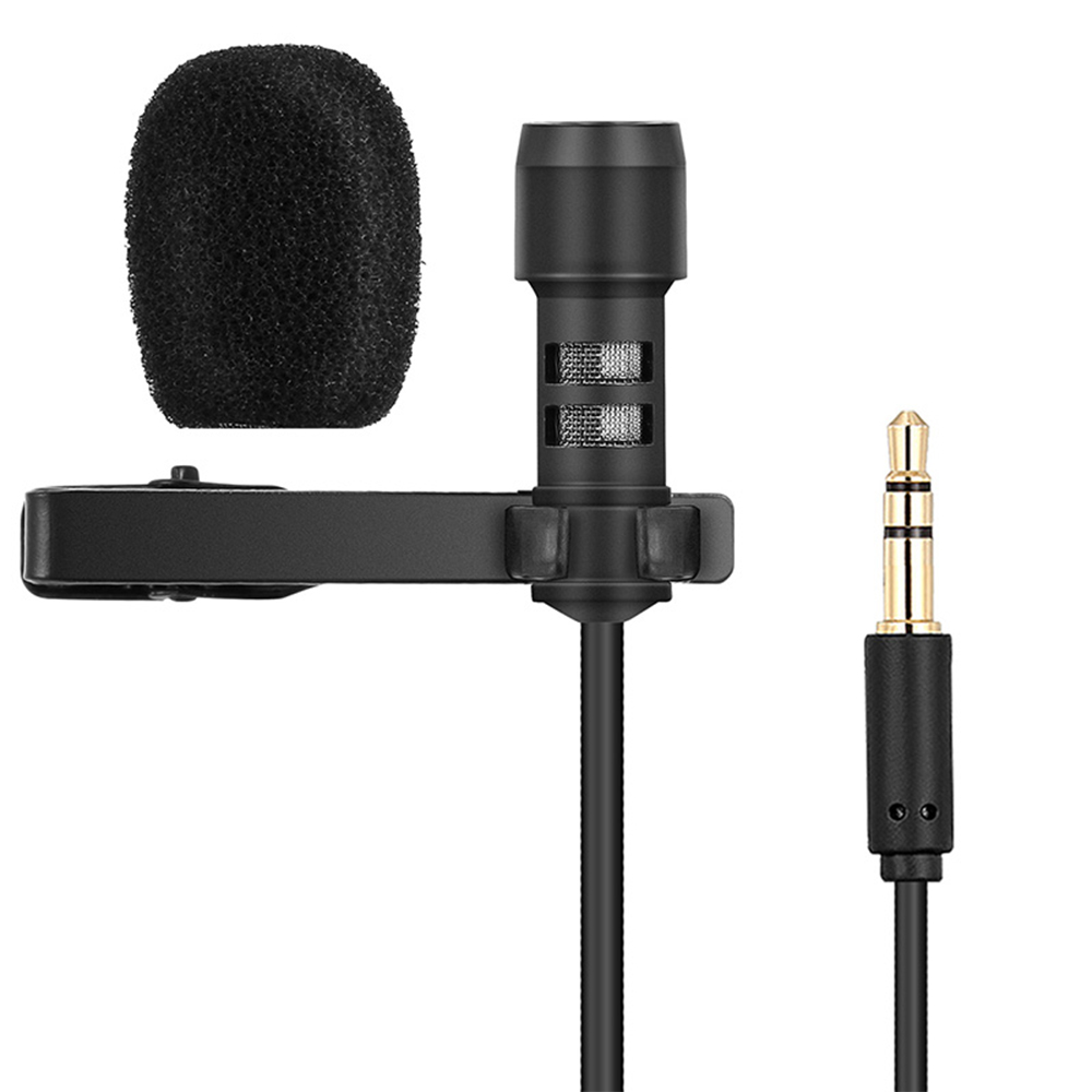 docooler Yanmai Lavalier Lapel Microphone Clip-on Omnidirectional Mic Condenser Microphone Audio Recorder Youtube//Interview//Podcast//Recording//Video Conference para iPhone Smartphones PC Cameras