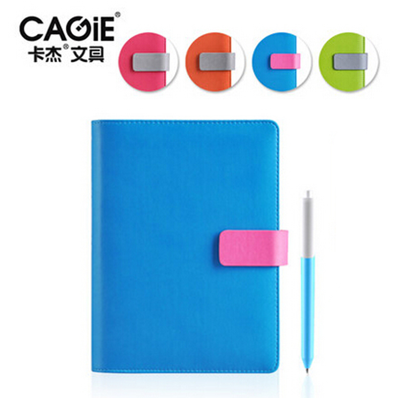 CAGIE A5 Pu Leather Spiral Cute Notebook Padfolio Creative Women/Men Candy Colors Daily Memos Business Office Notepad cagie a5 schedule plan notebook creative stationeryplan notebook efficiency manual notebook notepad 1pcs