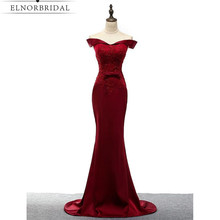 Burgundy Prom Dresses Mermaid 2017 Off The Shoulder Robe De Bal Sexy Robe De Bal Long Imported Party Dress Formal Evening Gowns