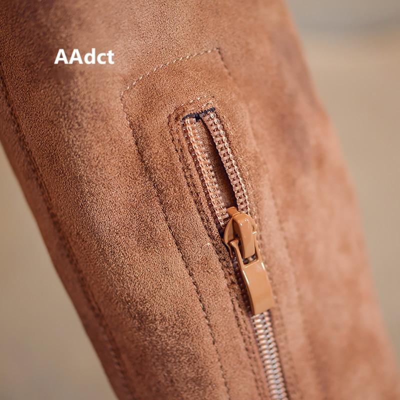 Image 3 - AAdct/осень 2018 г.; новые высокие сапоги принцессы для девочек; модные детские сапоги; брендовые классические детские сапоги на высоком каблуке с бахромой-in Сапоги from Мать и ребенок