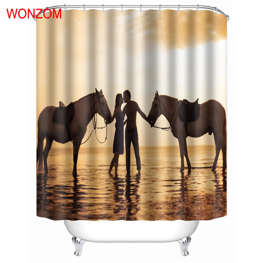 Two Horse Shower Bathroom Accessories