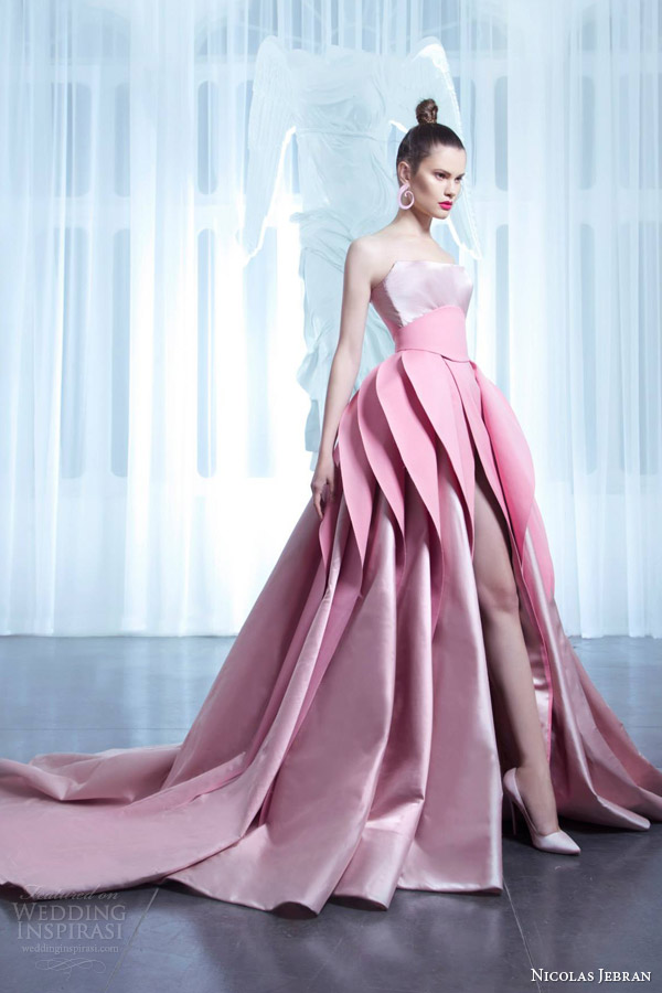 2017 New Arrival Designer Pink Wedding Dresses With Layered Skirt ...
