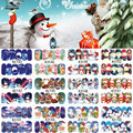 12 Sheets XMAS Nail Art Water Transfer art Sticker Full Cover Decals Merry Christmas Snowman nail Stickers Wrap Tip Decoration