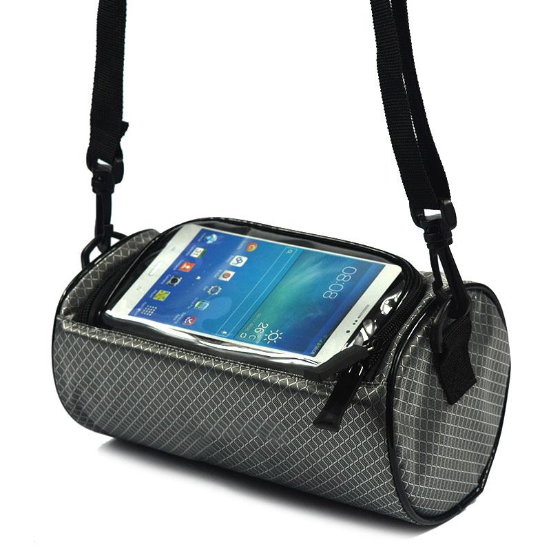 Wodoodporny Ekran Dotykowy Sakwy Rowerowe Rower Górski Rower Torby Phone Bag Case Rower Szosowy Rura Przednia Kierownica Torba Cylindra 35
