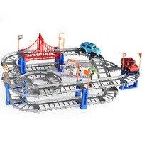 Eléctrico Thomas ferrocarril niños tren pista modelo ranura juguete coche de carreras órbita doble del regalo de cumpleaños los niños grandes juguetes