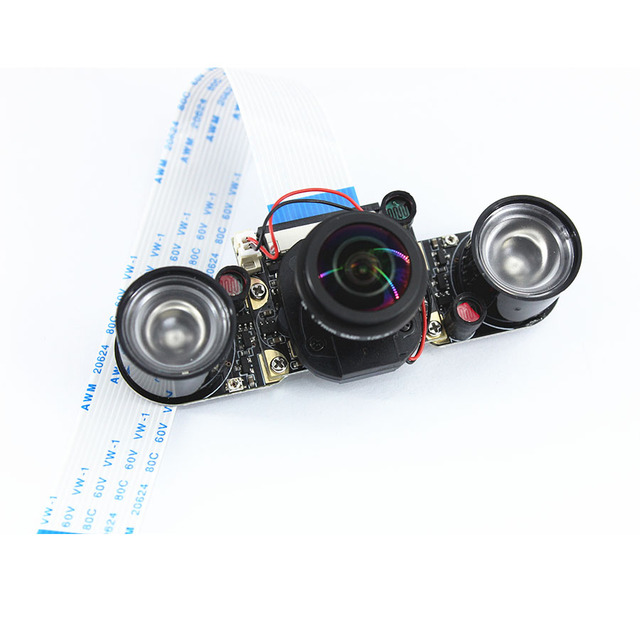 US $17 0 |Raspberry Pi 3 Night Vision Fisheye Camera 5MP OV5647 170 Degree  Automatically Switch Day Night Webcam for Raspberry Pi 3B-in Demo Board