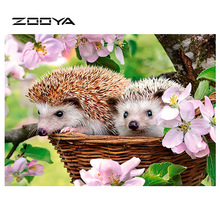ФОТО zooya diamond painting animal hedgehog diamond embroidery full pack 3d diy diamond mosaic decor rhinestone diamond mosaic rf1792