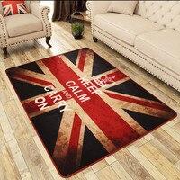 Britannique Vent Riz Mot Drapeau Pad Chambre Salon Chambre Chevet Anti-Slip Tapis Table Basse Canapé Tapis