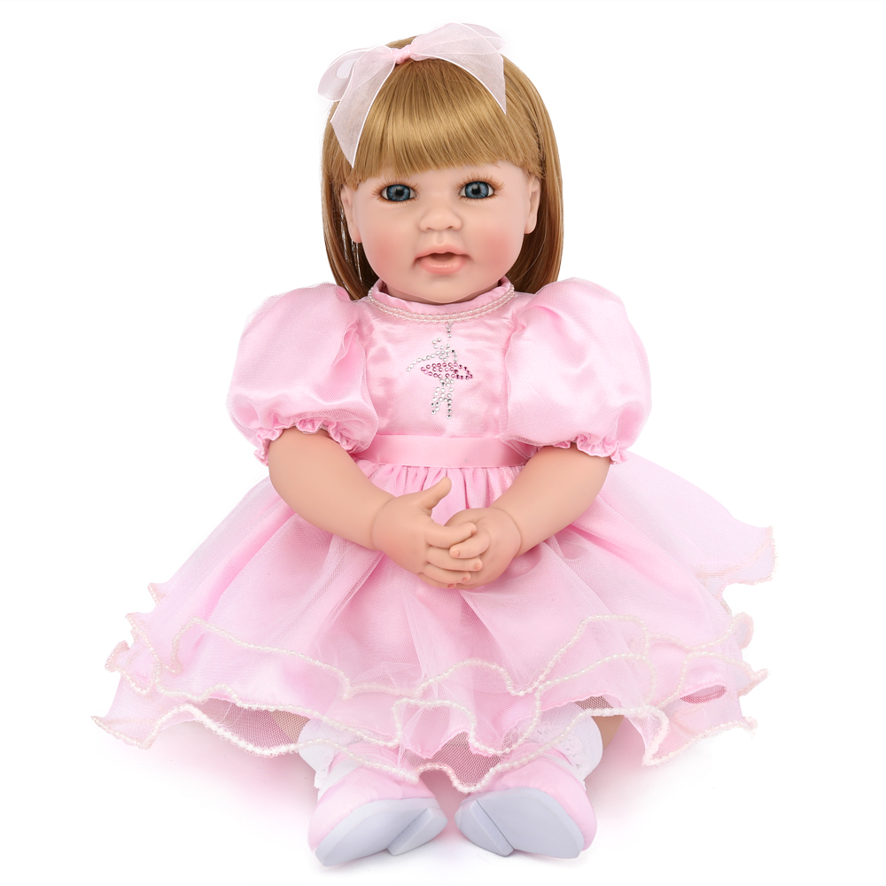 22 pouces environ 50 cm poupées enfants Reborn bébé poupées silicone Vinly Reborn bébé poupée jouets mode douce poupée