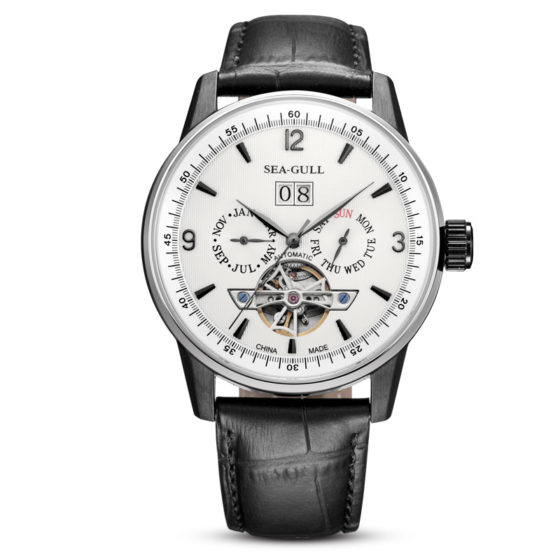 Leisure Automatic Authentic Leather Automatic Leather Watch бар - Ерлердің сағаттары - фото 3