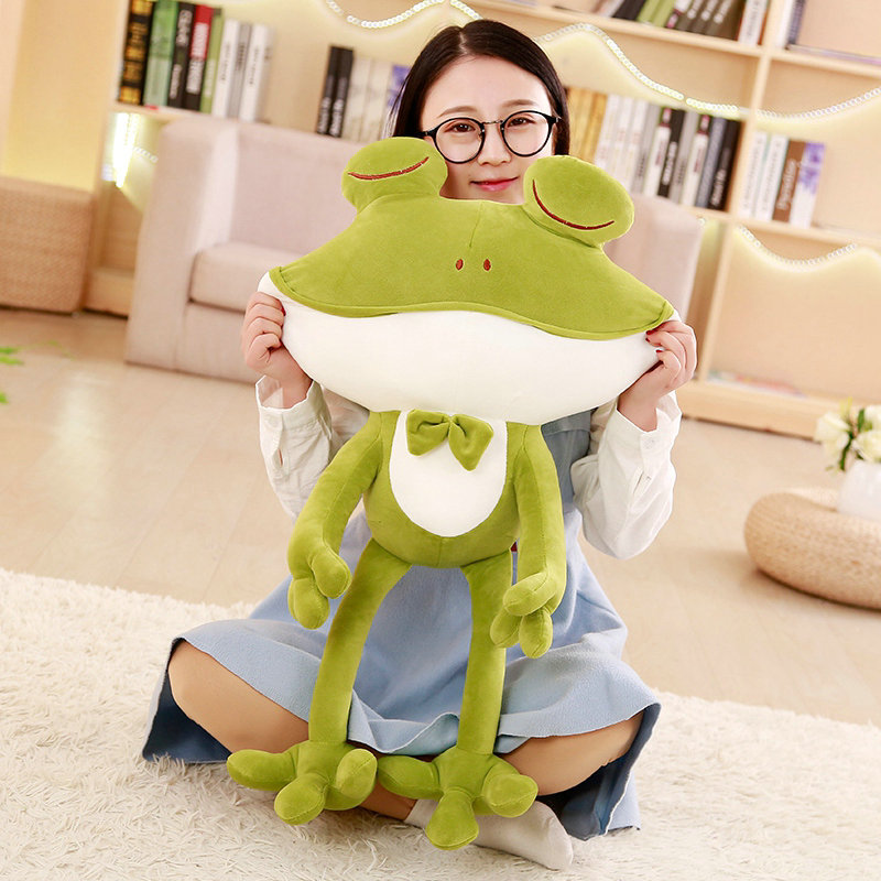 Cartoon Cute Frog Plush Toys Staffed Soft Animal Frog Classic Toys Lovely Gift Doll for kids Childrens Toy 50-85cm