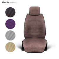 Karcle Car Seat Covers 1PCS Universal Linen Breathable Summer Driver Seat Cushion Protector Car Styling Automobiles