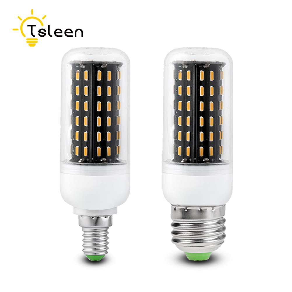 TSLEEN Cheap E27 E14 B22 G9 GU10 LED Corn Lamp 220V 4014 SMD 12W 18W 25W 30W 35W Cover Corn Light Bulb Energy Saving Home Bulbs