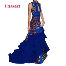 africa dresses for women splice long sexy with sleeveless Mopping fishtail dress dashiki african clothes womenWY3722
