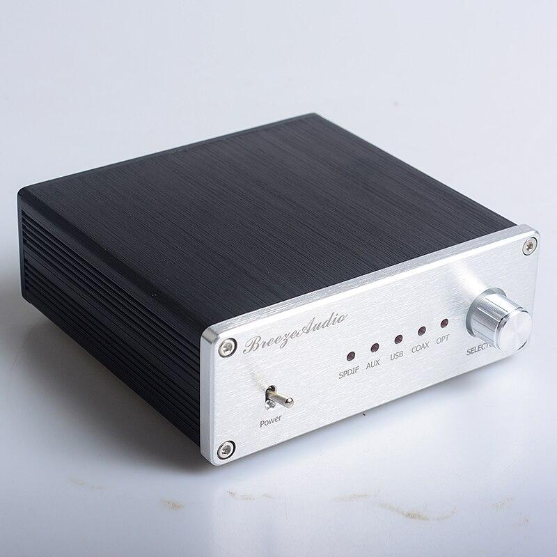 2017 NEW Breeze audio SU4 AK4490 AK4118 decoder USB DAC coaxial fiber USB 192K 24BIT XMOS or PCM2706 version audio amplifier