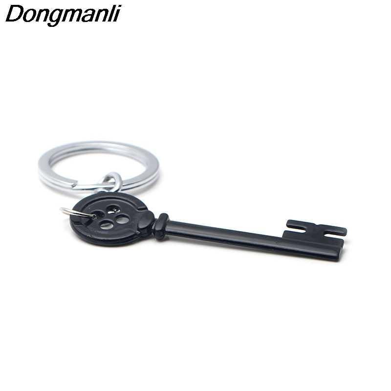 P2943 Dongmanli Kunci Logam Kerangka Alat Peraga Neil Gaiman Retro Hitam Peti Harta Karun Kunci Gantungan Kunci