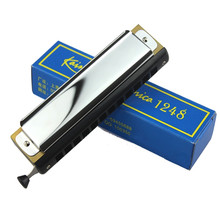 12 Holes 48 Tones C Key Chromatic Harmonica Mouth Organ Flute For Musical Instruments Beginner Lover Gift Toy