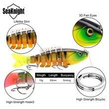 SeaKnight SK001 Swim Bait Fishing Lure Set 5PCS 8cm 19g Sinking Lure Segments Multi-Jointed Swimming Lure Life-like Swimbait