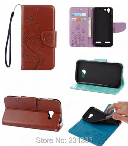 Wallet Leather TPU Case Pouch For Samsung Galaxy S8 Plus A3 A5 2017 Lenovo K5 Strap Embossed Stand Flower Butterfly Cover 1pcs