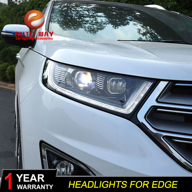 Styling mobil Kepala Lampu kasus untuk Ford Edge 2015-2018 Lampu LED - Lampu mobil - Foto 5