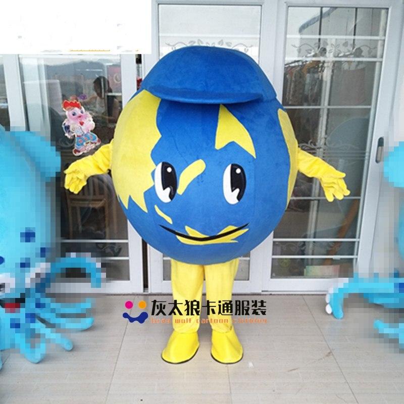 Mascot Globe Earth Mascot Costume Custom Fancy Costume Anime Cosplay Apparel theme fancy dress carnival costume