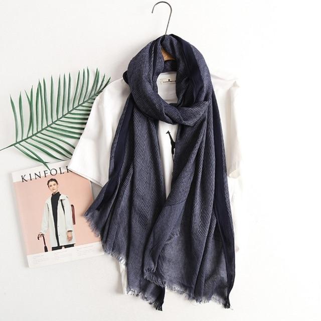 09c54ff9415 US $10.89 30% OFF| 2017 Vintage Cotton Linen Scarf Women Fashion Long Scarf  Men Geometric Scarf Shawl Wraps 200*80cm-in Women's Scarves from Apparel ...